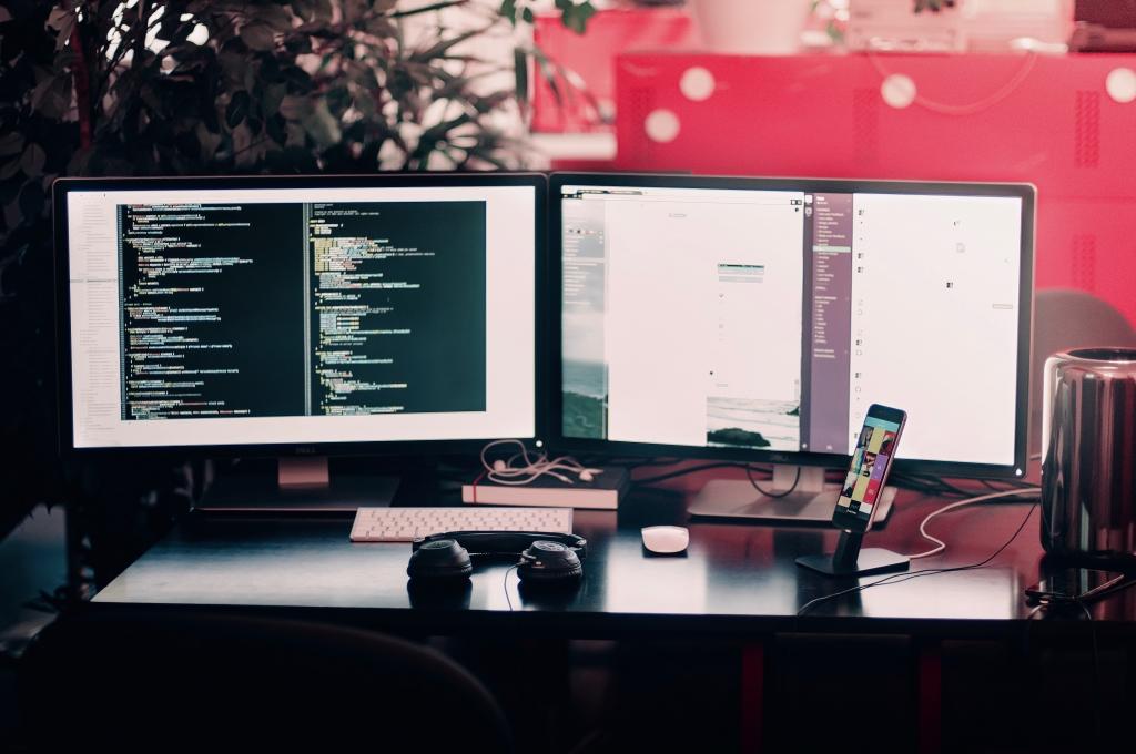 Web Developer work computer